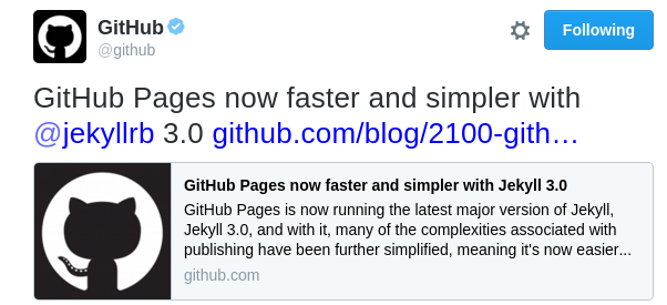 Github Pages 의 Jekyll3.0 업그레이드